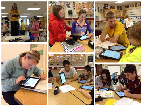 Springfield students learning and creating with the help of iPads.